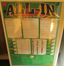 POKER POSTER OOP COLLEGE DRINKING GAMES ALCOHOL  CASINO ALL IN
