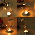 2PCS Rotating Rotary Spinning Carrousel Tea Light Candle Holder Xmas Decor Gift