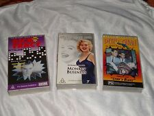 3 VHS RARE MARILYN MONROE MONKEY BUSINESS PETER GUNN Vol 1 DICK TRACY Serial 1