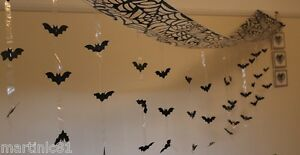 3M HALLOWEEN HANGING BATS CEILING HANG BATS WALL DECORATION SCARY GUESTS DEAD