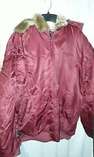 Sean John Mens Hooded Parka Jacket Size 4XB Maroon Red