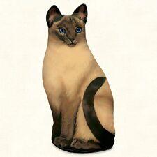 Siamese Cat Shaped Soft Sculpture Doorstop or Pillow