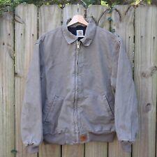 Vintage Carhartt Work Jacket Men's Large Gray Full Zip 25x29
