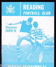 1965/66 READING V BRIGHTON & HOVE ALBION 03-09-1965 Division 3
