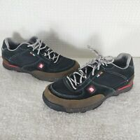 The North Face AX6T Mens Mountain Sneakers Black Suede Recycled Rubber 11.5M