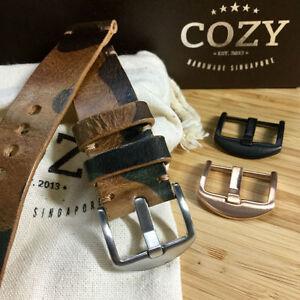 Handmade Military 101 Leather Minimalist Watch Strap (18mm, 20mm, 22mm, 24mm)