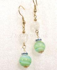 Hook Glass Brass Fashion Earrings