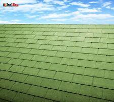 Dachschindeln 3 m? Rechteck Form Grün (21 Stk) Schindeln Dachpappe Bitumen