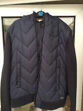 Mens Firetrap Blackseal Blue Hooded Jacket Size XL