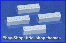 Lego 4 x Bausteine Steine 1x4 grau 3010 Basic Bricks Light Bluish Gray NEU / NEW