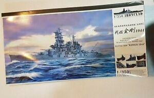 Aoshima Ironclad 1/350 Japanese Battle Ship Kongo 1944 Dreadnought type Kit