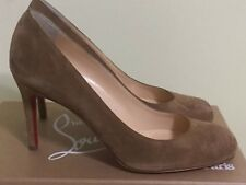 AUTHENTIC NEW CHRISTIAN LOUBOUTIN SIMPLE INDIANA BROWN BEIGE HEEL PUMP SHOE/37
