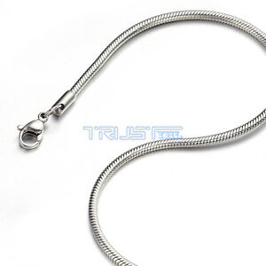 """stainless steel  Snake 1.2-3.2mm Chain Necklace 16"""" - 20""""  NEW Necklace fashion"""