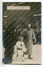 Foto AK Das Kaiserpaar mit dem Kronprinzen im Leichenzug, Franz Josef I. #9324