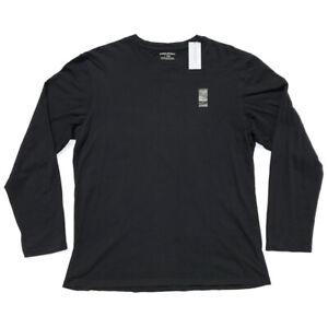 VTG 00s BANANA REPUBLIC Fitted Long Sleeve Crew Neck Tee T-Shirt BLACK Mens L