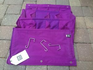 PB Dorm Pottery Barn Purple Over-the-Door Hanging Shoe Organizer 12 Slot NWT!