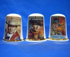 Birchcroft Thimbles -- Set of Three -- John Wayne Movie Posters