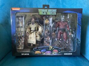 "TMNT NECA Maroon ""Royal"" Splinter & ""Shadow"" Shredder 2-Pack 1990 Movie Turtles"