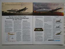 5/1980 PUB CESSNA CITATION I II III BUSINESS JET AIRCRAFT FLUGZEUG GERMAN AD