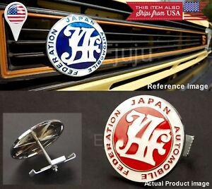 Japan Automobile Federation JAF RED Emblem Badge For Mitsubishi Subaru Grille