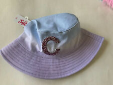 NEW Justice Girls Hat Initial C Glitter Tie Dye One Size