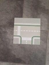 Lego T Junction Vintage Grey Road Board / Plate
