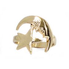 Oro Luna Y Estrella ring-celestial jewellery-vintage Boho bohemio Festival Hippy