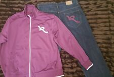 Rocawear  2 Pc Mens Set Outfit Jacket, Jeans Size 38/32 Jeans PRE-OWNED