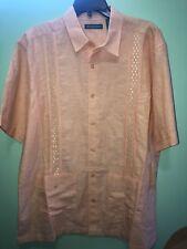 Summer Sale Guayabera Shirt L Short Sleeve