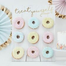 Party Donut Wall Wedding Treat Doughnuts Take a Treat Centrepeice Sweet Table