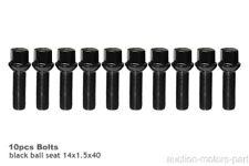 For Audi S6 AWD Year 1992-2011 Black Ball Seat Wheel Bolts m14x1.5x40mm 10pcs