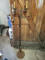 Nice Antique  Art Deco Floor Lamp 2 light Gothic Medieval bridge candle stand