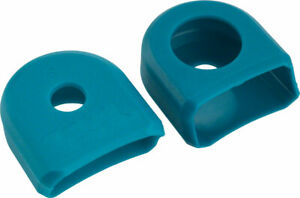 RaceFace Crank Boots: For Alloy Cranks 2-Pack Turquoise