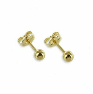 585er Kugel Ohrstecker Paar / Einzel - ECHT Gold 585 Ohrringe Ohrschmuck Stecker