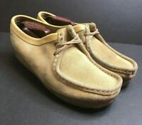 Clarks Originals Womens 9.5 M Wallabee 35395 Sand Suede Desert Shoes