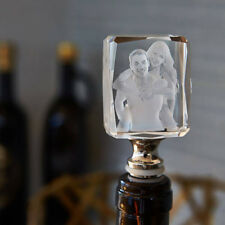 Customized 3D Wine Stopper Photo Picture Laser Engraved with Gift Box