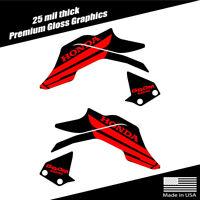 Honda CRF150R 2007-2017 Stripe shroud graphics Red//Black FREE SHIPPING!!!
