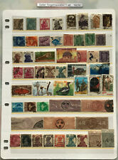 Brilliant Collection of 53 INDIA Used Stamps in 1 page stock sheet