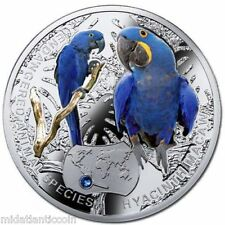 2014 Niue Hyacinth Macaw Endangered Species Silver Proof Coin in Box w/COA