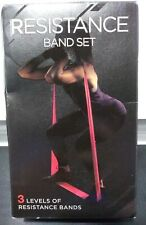 THERABAND RESISTANCE BAND SET 3 LEVELS OF RESISTANCE BANDS ~Free S/H