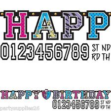 MONSTER HIGH PARTY SUPPLIES JUMBO 3 METER ADD AN AGE LETTER BANNER