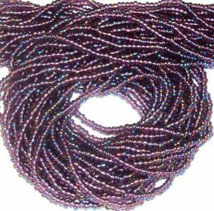 SB4261 Purple Transparent Rainbow 11/0 Jablonex Czech Glass Seed Bead Hank
