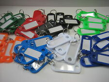 Lot of 56 Key ID Labels Tags with Key Ring Split Rings