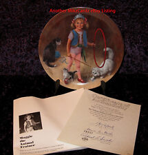 """Maggie The Animal Trainer"" J. McClelland Circus Kid Plate - Free Shipping W/Coa"
