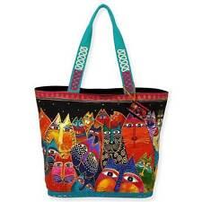 Fantasticats Laurel Burch Large Canvas Shoulder Purse Tote Bag Handbag