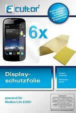 6x Medion Life E4001 Pellicola Prottetiva Transparente Proteggi Schermo