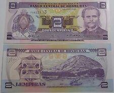 "BILLETE ""  HONDURAS   2  LEMPIRAS    AÑO  2004    UNC   PLANCHA"