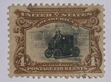 Travelstamps: 1901 US Stamps Scott # 296 Automobile, Used Ng, Pan-American, 4c