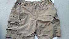"White Sierra Olive Ripstop Nylon Cargo Hiking Shorts Men's Largex8"" NWOT"