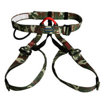 Pro Safety Harness Rappelling Equip For Zipline Mountaineering Rock Climbing